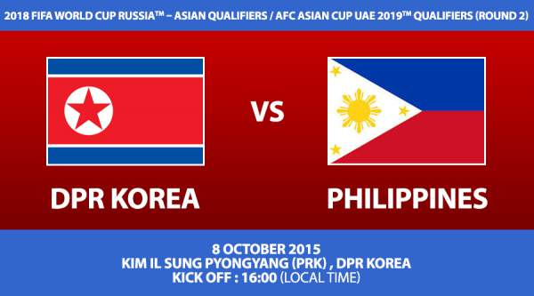 Philippine Azkals vs. North Korea Live Stream, Time, TV Info and Updates