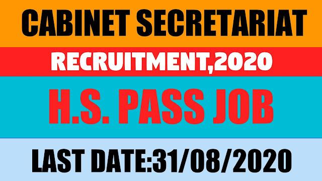 Recruitment in Cabinet Secretariat,2020