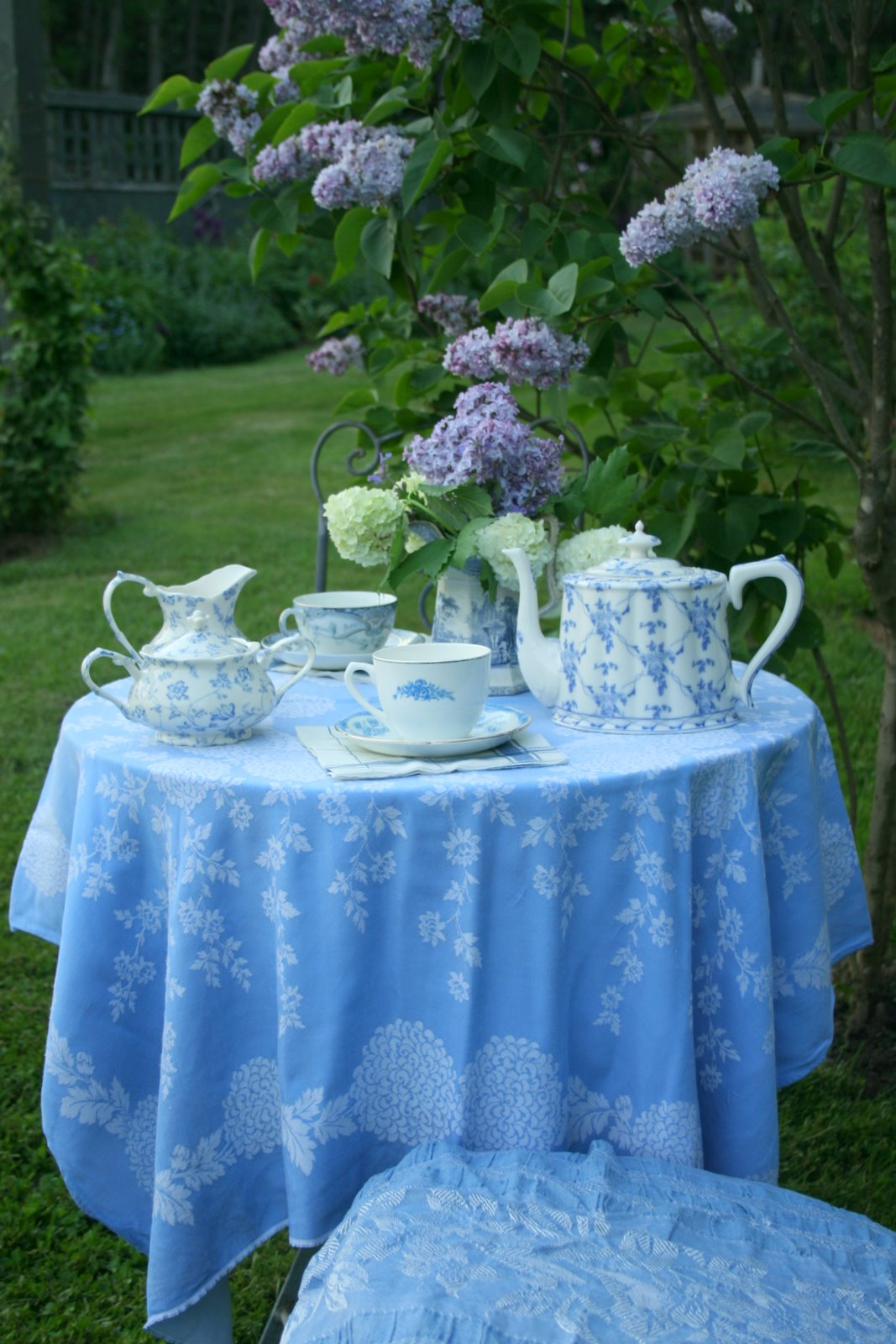 French Blue Garden Tea Real Estate House And Home