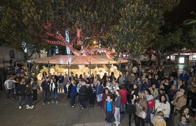 Inauguraci n del tradicional bel n del parque de san telmo - Gran canaria tv com ...