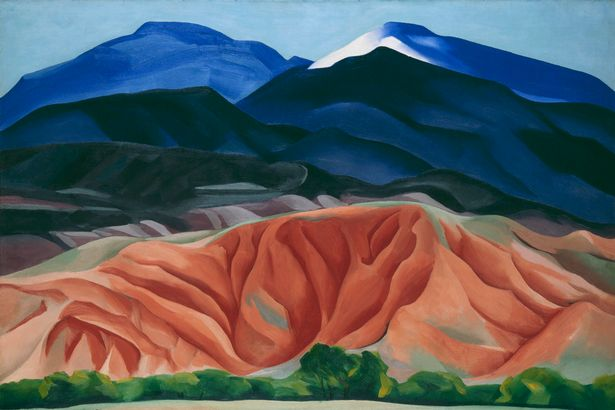 Georgia O'Keeffe  : Black mesa landscape exposition Tate Modern Londres