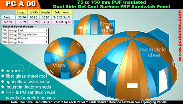 FRP-PUF Sandwich Domes House