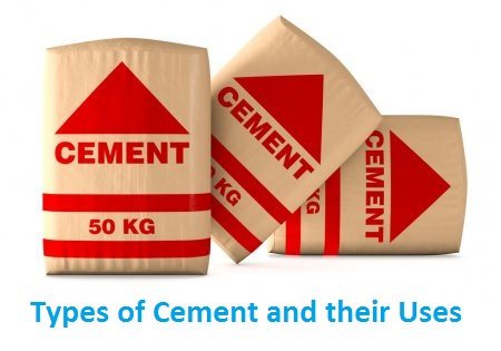 TYPES OF CEMENT AND THEIR USES