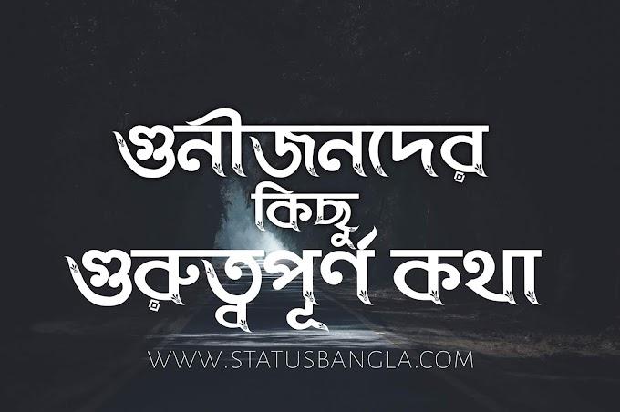 গুনীজনদের কিছু গুরুত্বপূর্ণ কথা-status bangla