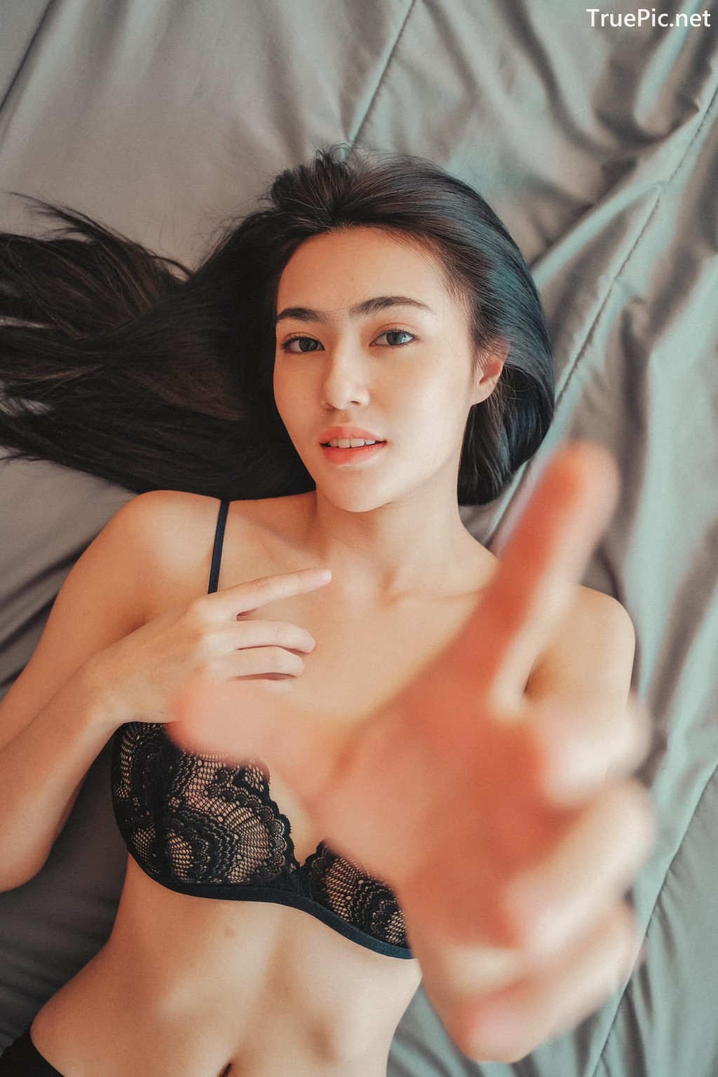 Image Thailand Sexy Model – Baifern Rinrucha Kamnark – Black Lingerie - TruePic.net - Picture-10