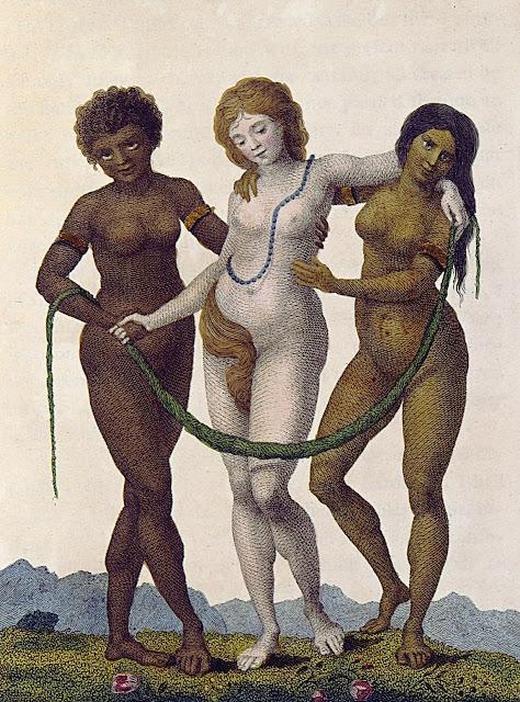William Blake: L'Europa sostenuta dall'Africa e dall'America