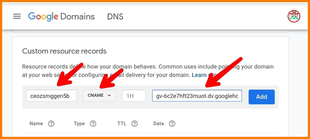 Membuat sub domain dari google domain