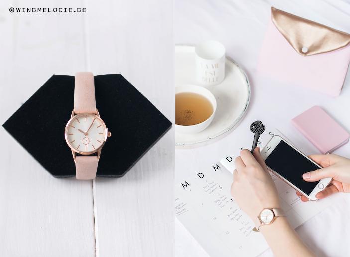 Uhr rosegold rosa