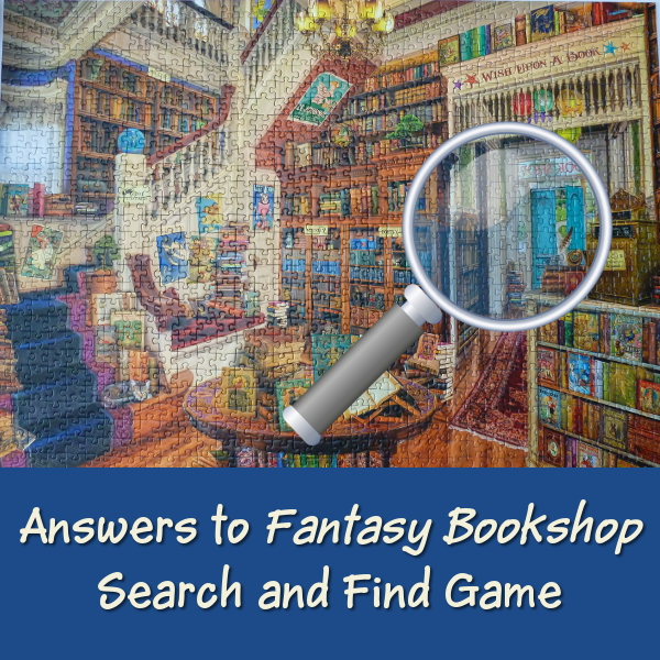 Search and Find Answers for Fantasy Bookshop Ravensburger Jigsaw Puzzle Art by Aimee Stewart Spoiler Warning