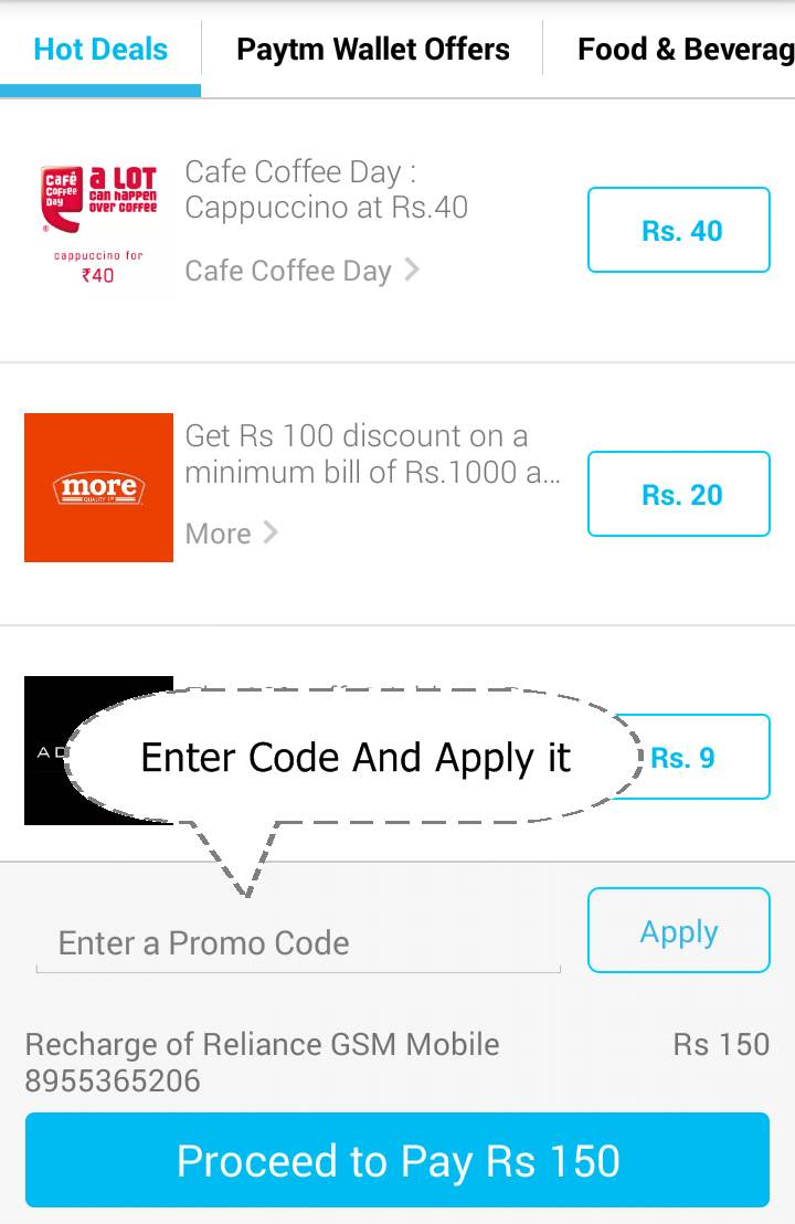 Vodafone recharge discount coupons