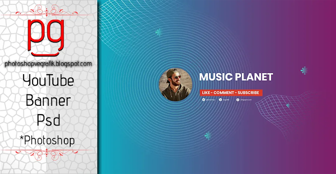 Youtube Music Channel  Banner Psd