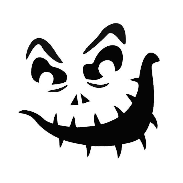 cool funny jack o lantern face design pattern templates for download