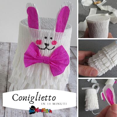 Tutorial in breve: Come realizzare un coniglietto in carta crespa