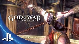 God of War: Ascension هي لعبة مغامرات حركية تم تطويرها بواسطة Santa Monica Studio ونشرتها Sony Computer Entertainment (SCE). تم إصدار اللعبة لأول مرة في 12 مارس 2013 لجهاز PlayStation 3 (PS3). إنها الدفعة السابعة في سلسلة God of War وهي مقدمة للسلسلة بأكملها. مبنية بشكل فضفاض على الأساطير اليونانية ، يتم تعيين اللعبة في اليونان القديمة مع الانتقام كحافز مركزي لها. يتحكم اللاعب في بطل الرواية Kratos ، الخادم السابق لإله الحرب Ares ، الذي خدع Kratos لقتل زوجته وابنته. ردا على هذه المأساة ، تخلى كراتوس عن آريس ، وكسر قسم دمه إلى الإله. لذلك تم سجن كراتوس وتعرض للتعذيب من قبل الغضب الثلاثة وأولياء الشرف ومنفذي العقوبة. بمساعدة حارس اليمين Orkos ، يهرب Kratos من سجنه ويواجه Furies ليكون خاليًا تمامًا من ارتباطه بآريس.