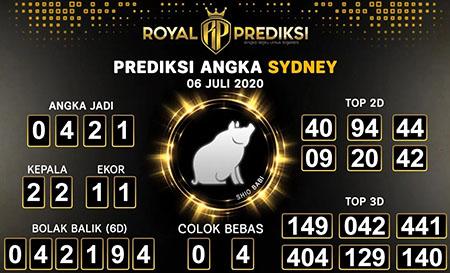 Royal Prediksi Sydney Senin 06 Juli 2020