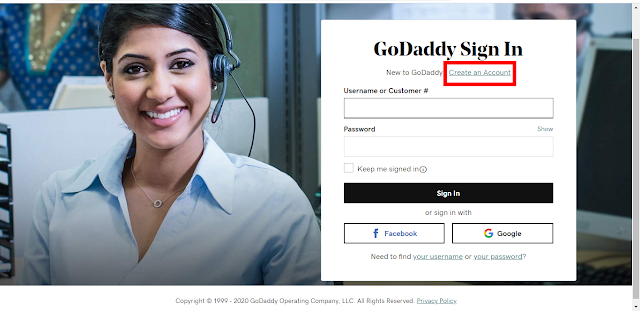 Buy a domain from Godaddy