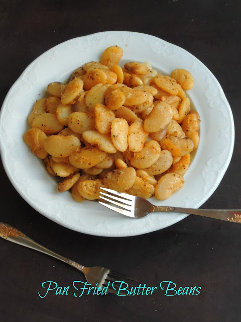 Gluten free Pan fried Butter Beans