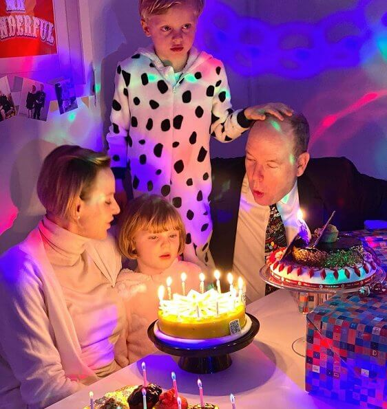 Princess Charlene shared two new family photos taken during her twins Hereditary Prince Jacques and Princess Gabriella's birthday celebration
