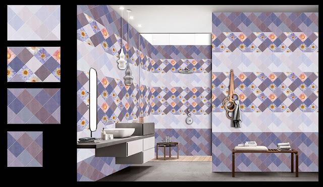 Grey and Blue Bathroom Tiles