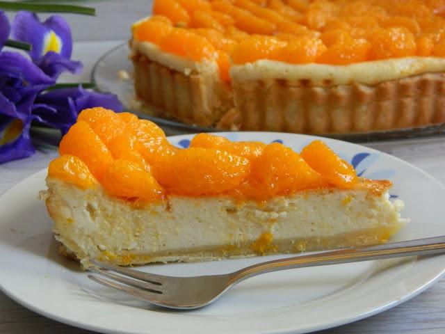 Tarta cu branza dulce si mandarine