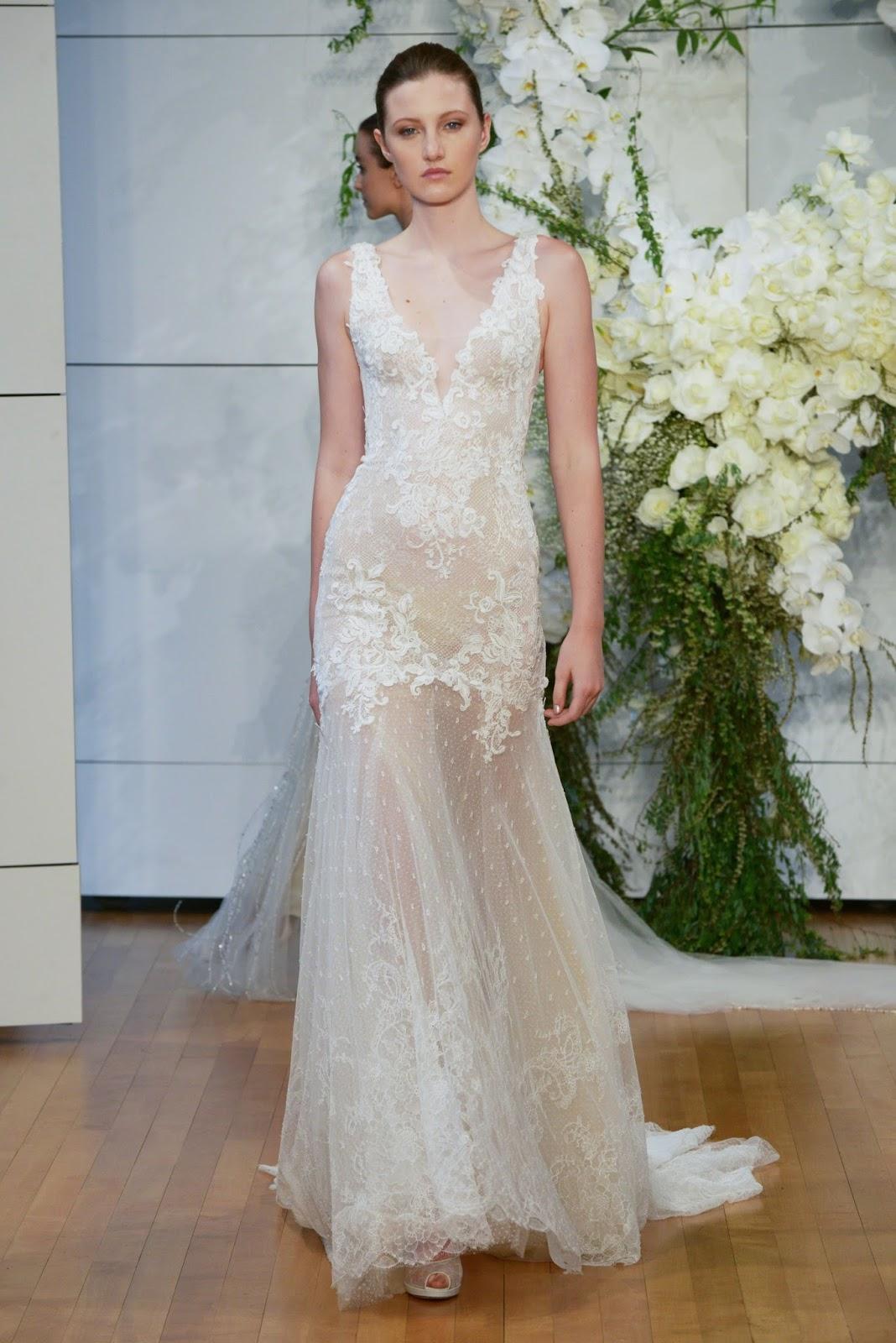 vestido de noiva com transparência passarela