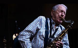 El saxofonista Pedro Iturralde llega a Albacete - España / stereojazz