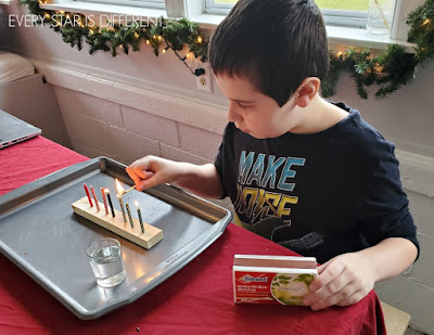Lighting Candles on Kwanzaa Kinara