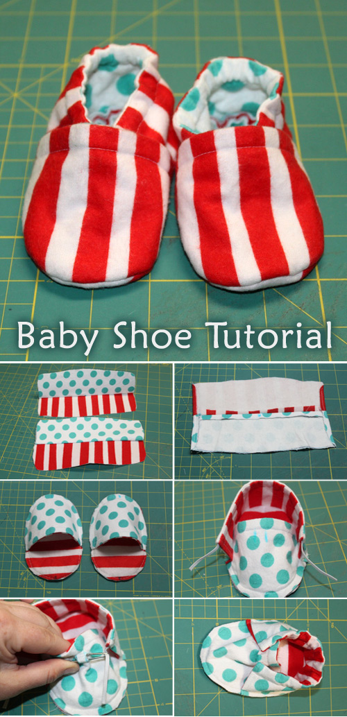 Cloth Baby Shoe Tutorial + Pattern