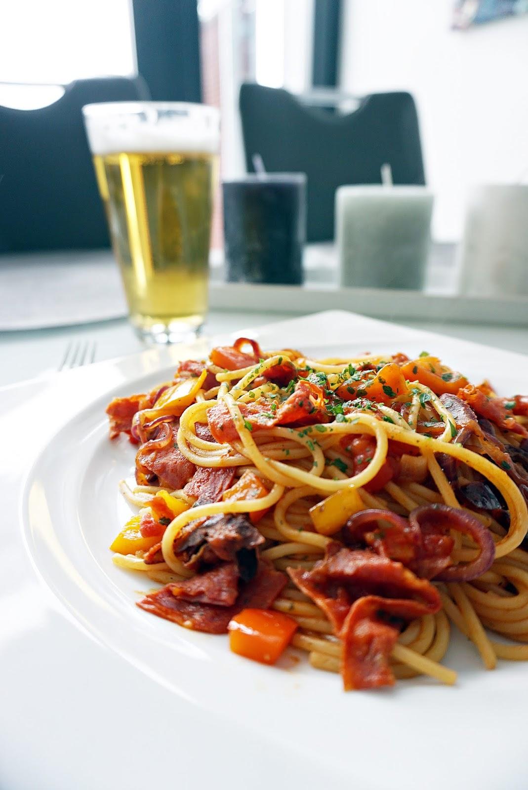 Nudelpfanne mit Chorizo