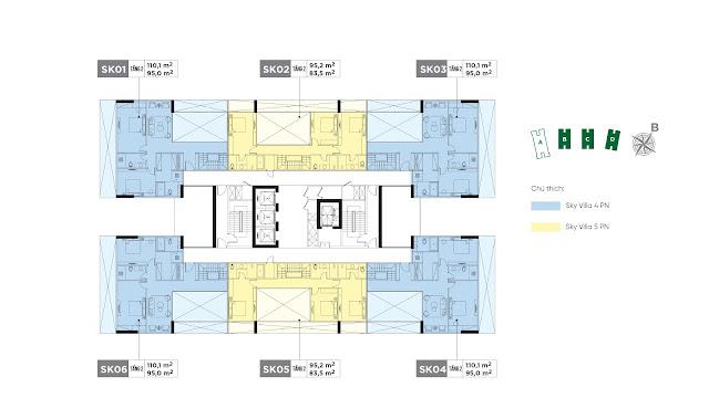 thiết kế giá bán căn hộ dự án chung cư Sunshine Green Iconic Phúc Đồng Long Biên Hà Nội