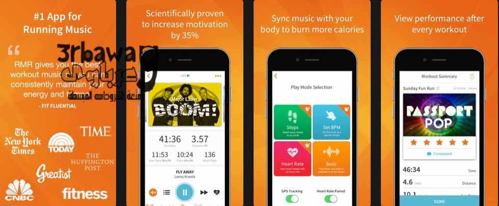 تطبيق RockMyRun - Workout Music