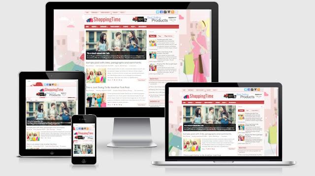 shoppingtime blogger template