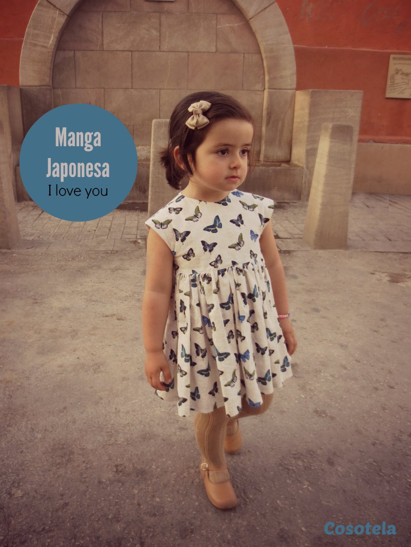 vestido niña manga japonesa