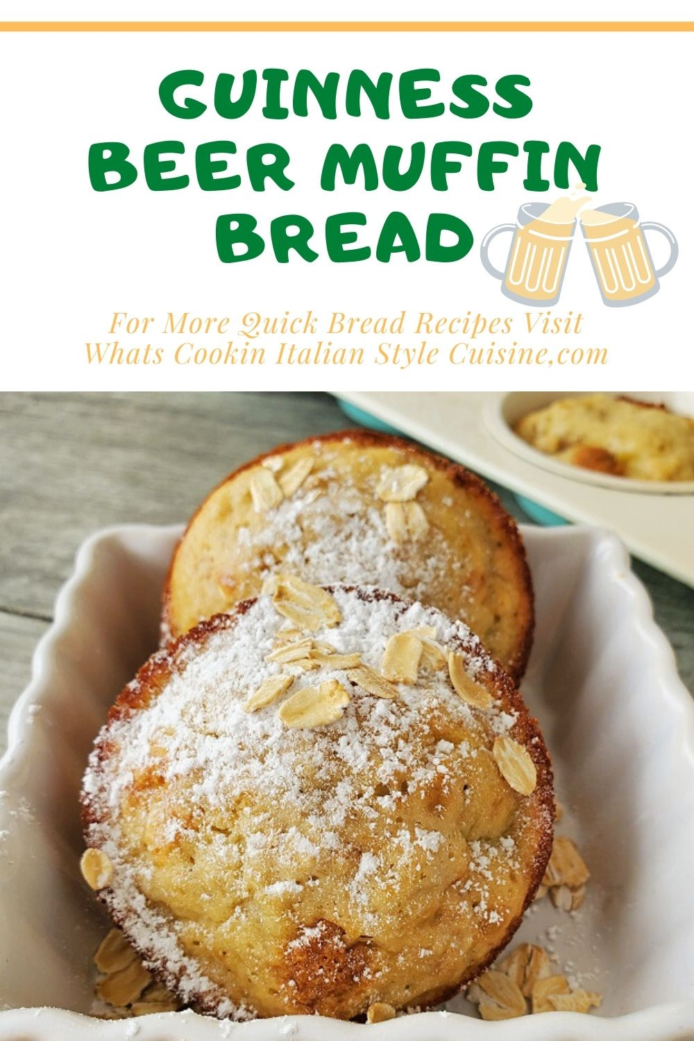 this is a beer muffin recipe and pin for later