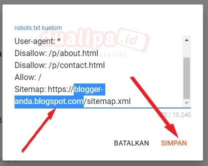 Cara Setting Robot txt Blogger