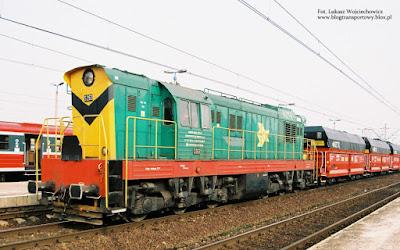 Lokomotywa  S-263 z NZTK na stacji Oświęcim