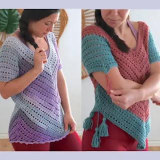 Blusa Triángular a Crochet