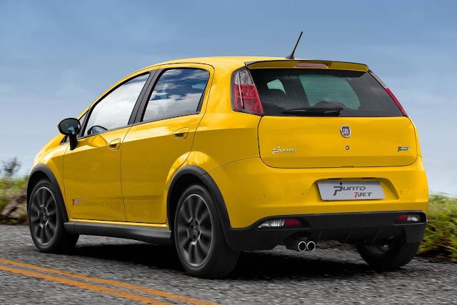 Fiat Punto T-Jet amarelo