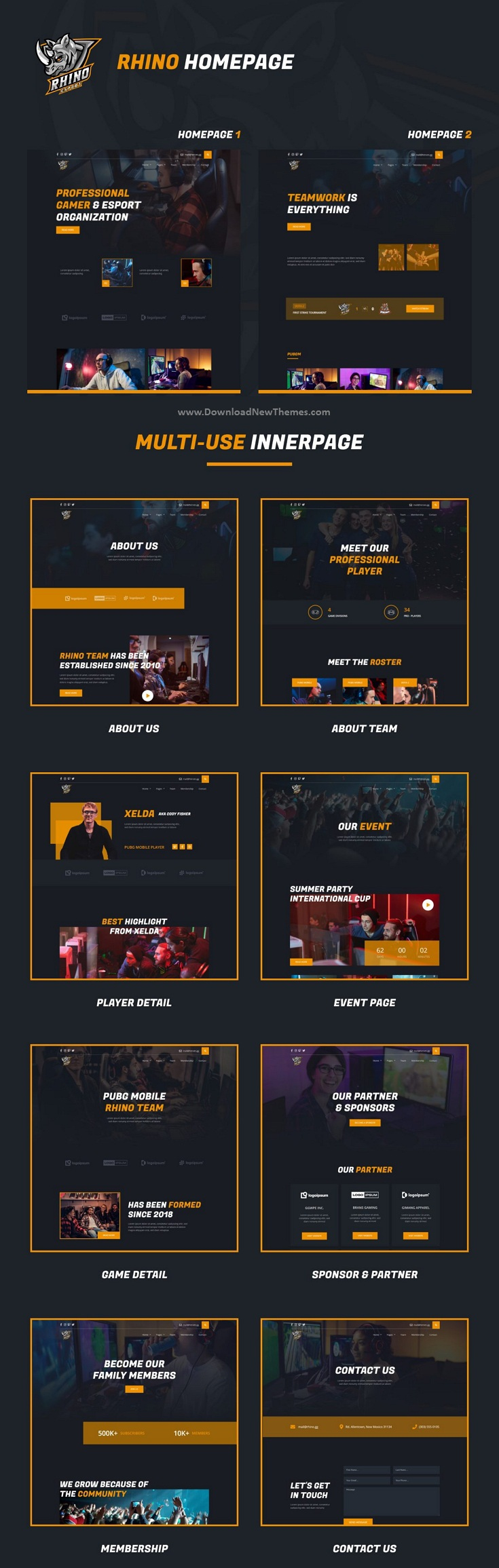 e-Sports Elementor Template Kit