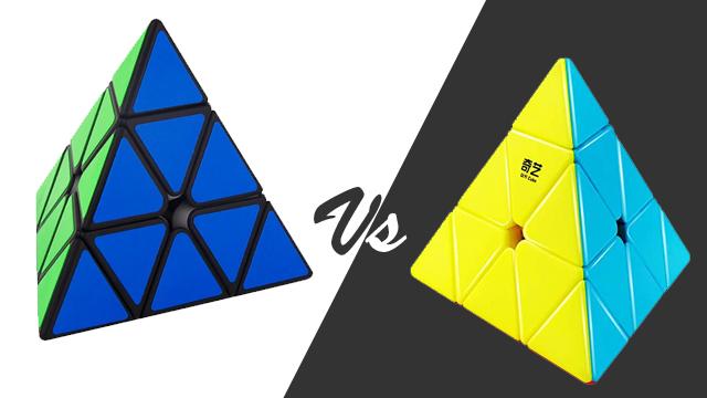 Perbandingan rubik MF Pyraminx dengan rubik brand lainnya seperti QiYi Qiming