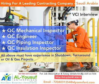 VCI Interview for a leading Contracting Company