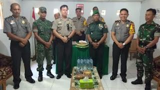 Polres Minsel dan Jajaran Rayakan HUT TNI ke-74 di Kantor Koramil
