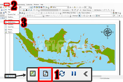 Cara Memutar Peta dan Arah Utara Di ArcGIS