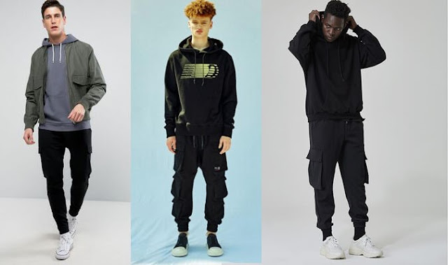 kết hợp quần kaki nam với áo hoodie