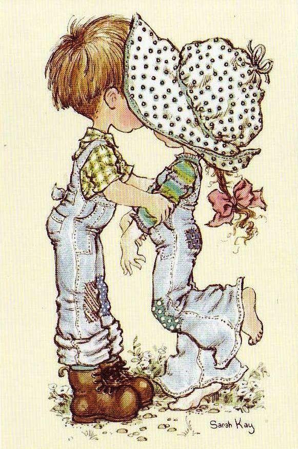 Desenho de Sarah Kay - O Beijo