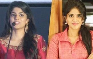 Megha Akash & Indhuja Speech   Boomerang Audio launch