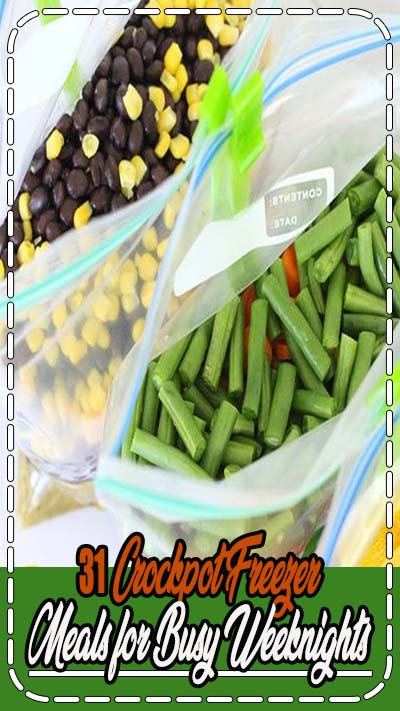 Do you need an easy dinner idea for busy weeknights? Stock your freezer with crockpot freezer meals! Here are 31 delicious crockpot recipes that....