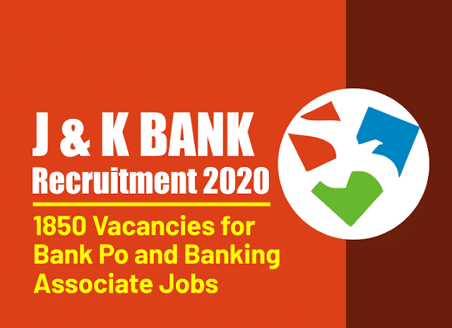 Jk bank Recruitment 2020 Apply online