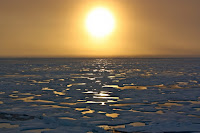 The Arctic Ocean at sunset. (Credit: NASA) Click to Enlarge.