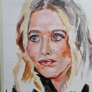 Ritma Grizane portrait painting